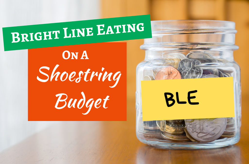 Bright Line Eating on a Shoestring Budget