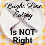Empty plate showing 11 signs that Bright Line Eating isn't right for you